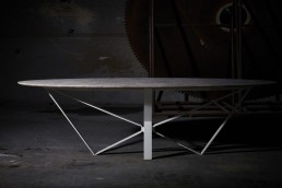 Papillon table - Emperador Light - Poco Vecchio marble